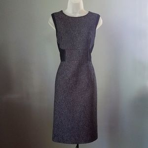 T Tahari Grey Sleeveless Dress Size 10